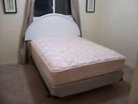 Stylish VERY COMFY Sealy Double Bed Set for sale I DELIVER