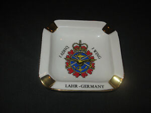vintage Hugo Schmidt Aviation GOLD Ashtray