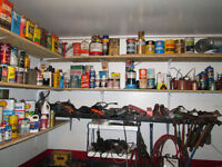 several old oil cans for the collector