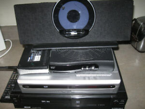 Lot of electronics-printer,dvd player,vcr,router etc-Lot $10