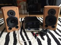 Pristine Onkyo CR-515dab + Whafedale 9.1 Speakers