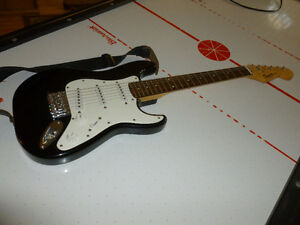 Fender Mini Squire Guitar and Yamaha Amp