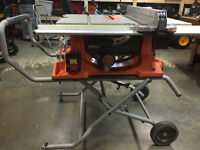 Ridgid Portable Table Saw with Folding Stand