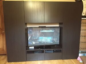 TV furniture with lots of storage, good confition