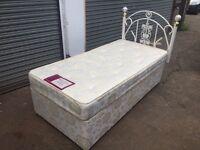 Single bed base & mattress