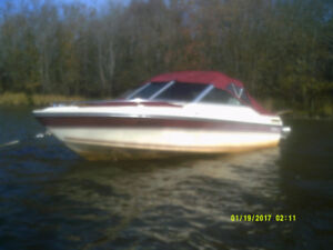 17' Doral Bowrider,c/w 70HP Johnson engine, and Alunium EZtilt t