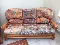African Pine 3 seater sofa & 2 single seats
