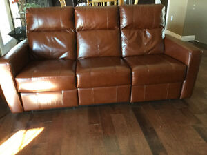 Leather Couch with dual power recliners!