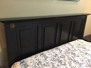 Solid wood queen size headboard