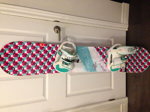 Head snowboard and Solomon bindings. Used only a few times