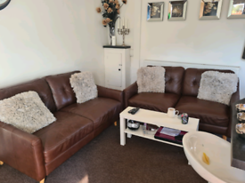 2 x 2 seater Dfs leather sofas
