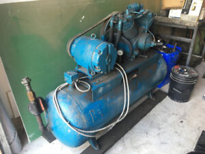 Dual piston heavy duty compressor, 10HP motor