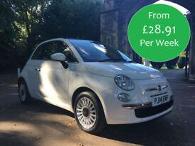 £124.31 PER MONTH 2014 FIAT 500 1.2 LOUNGE MANUAL PETROL FANTASTIC SPEC PETROL