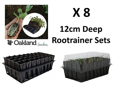 8 X Haxnicks Deep Rootrainer Set Root Trainer Books Cells Plug Plant Seed Tray