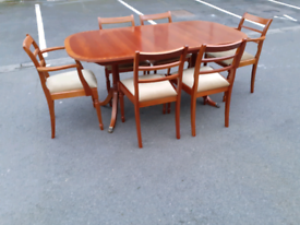 Vintage McIntosh Dining Table and 6 Chairs