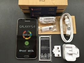 Brand new unlocked sim free Samsung Galaxy S5 G900F sealed box with full new accessories