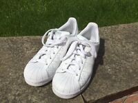 Ladies adidas superstar trainers size 4.5 (£60 new)