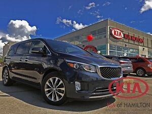 2016 Kia Sedona SX+ | LEATHER | HTD SEATS | STOW-N-GO