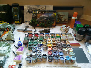 A lot of scale model/diorama supplies, paints, tools,etc $200OBO