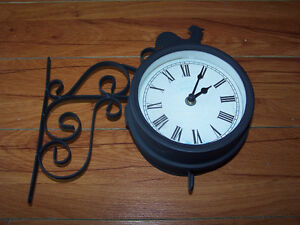 VTG Metal Clock/Thermometer Black Matte Waterproof