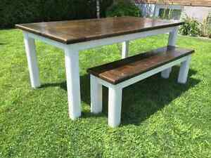 Custom Rustic Harvest Table and Furniture