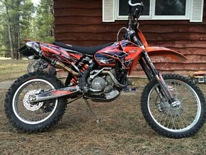 KTM 525 EXC, TIMBERSLED LONG TRACK.