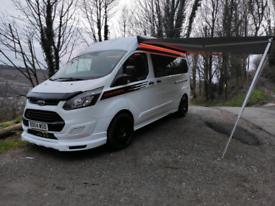 Transit custom camper, High Top, Campervan 4 berth 2014