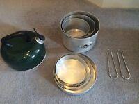 Tilley triplepan 3 pack + kettle camping pots
