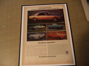 OLD FIREBIRD CLASSIC CAR FRAMED AD Windsor Region Ontario image 5