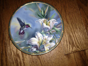 Collector Plate - Ruby Throated Hummingbird