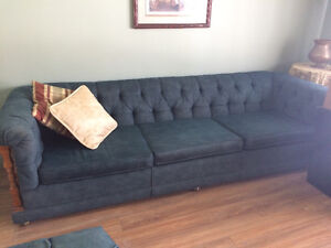 Queen bedroom set, couch, desk, china cabinets etc