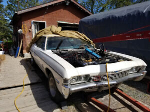 Wanted 1968 impala fastback parts or hole car.....