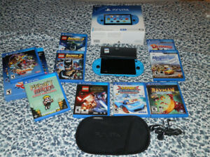 Adult owned BLUE PS VITA and  10 games + more
