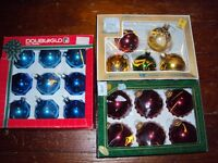 Antique christmas ornaments in original boxes