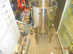 304 stainless kettle and a fermenters made by brew tech