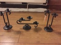 Cast iron candle stick holders.