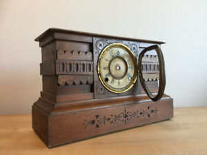 Antique Wooden Clock Case with Face