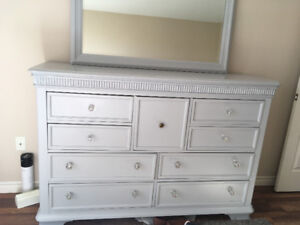 Refinished dresser and mirror
