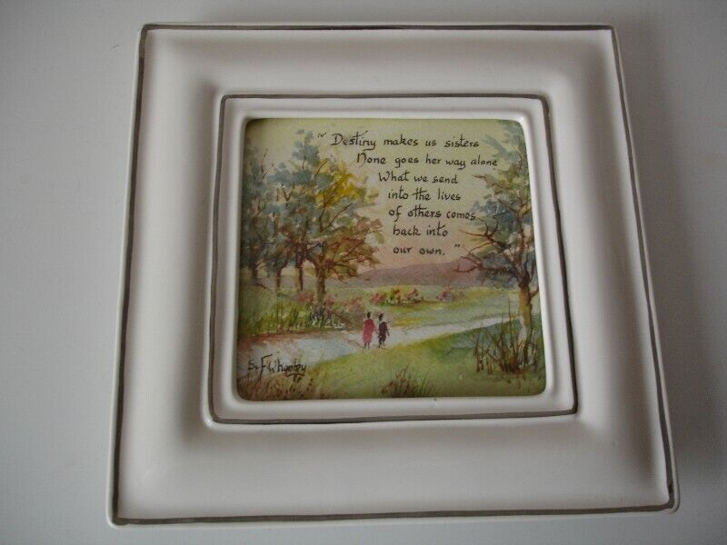 Porcelain Framed Sisters Watercolour Picture