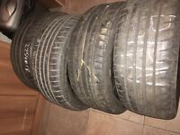 4X Continental 225/40/18. Part worn but very good condition.