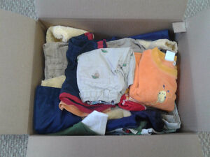 BOX of baby BOY clothes - 24 mos., 2T.