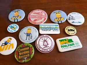 Collectable railway buttons