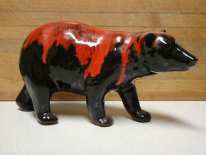 5 Pottery Bears Include Blue Mountain McMaster Canadiana CCC