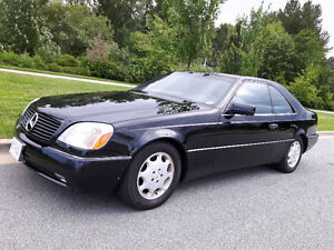 Classic 1996 Mercedes-Benz S500 Coupe, very rare.
