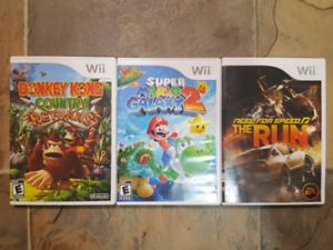Lot of Nintendo Wii Games Mario Galaxy 2 Donkey Kong Country