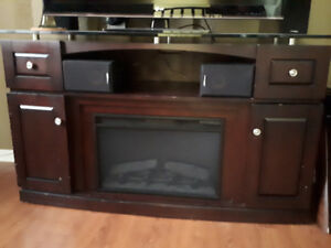 TV stand/unit with fireplace