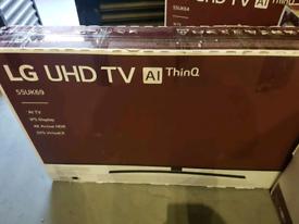 LG 55 INCH UHD 4K SMART NEW BOXED TV CALL 07550365232