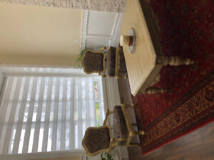 Sofa set with coffee table