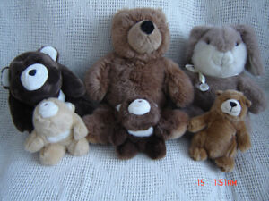 Fury Plush Teddy Bears by Gund - Excellent Condition!