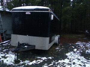 2008 16' by 7' enclosed trailer Prince George British Columbia image 2